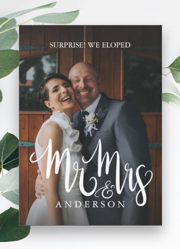 Mr & Mrs Surprise Elopement